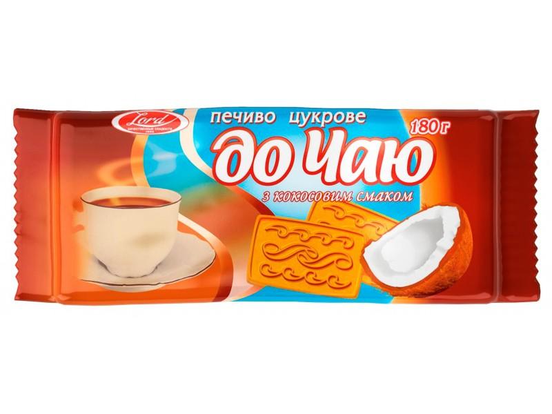 """Печиво  цукрове """"До чаю"""" з кокосовим смаком"""