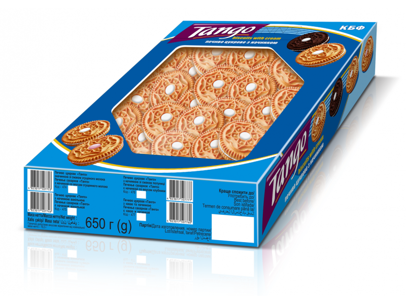 "Печиво цукрове ""Танго"" ваниль (ЕКРАН 650 г)"