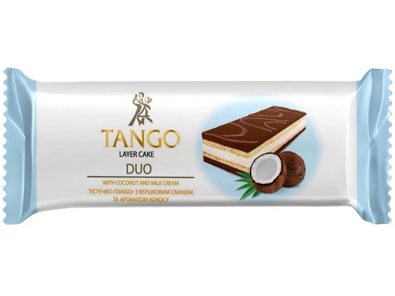 """Тістечко """"TANGO""""з вершковим  смаком та ароматом кокосу (в шоубоксах)"""